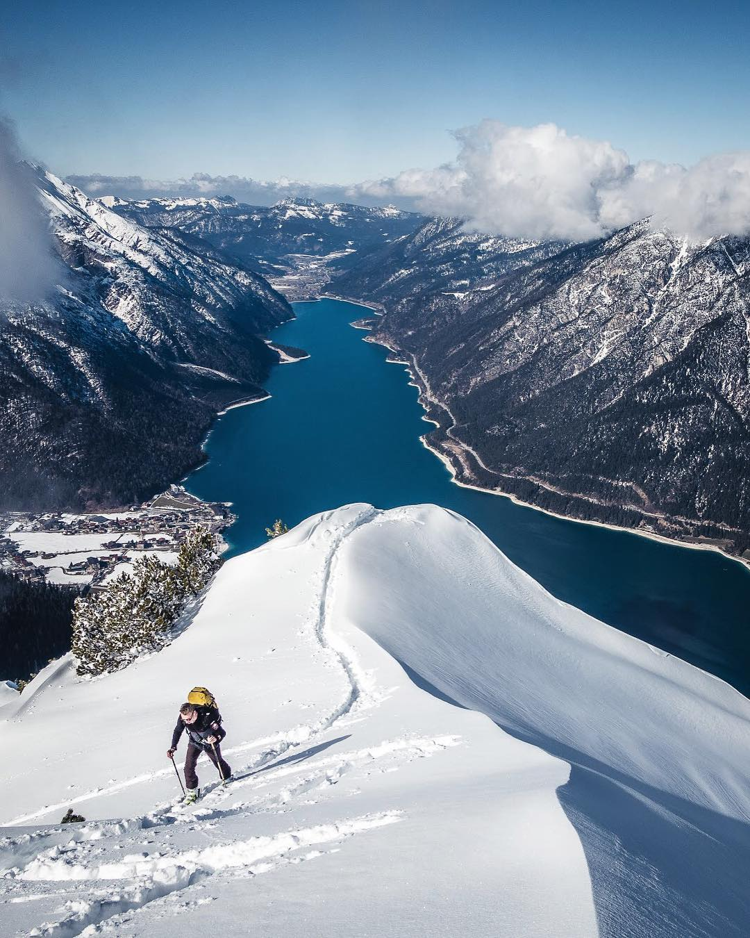 Skitour am Achensee: auf den Bärenkopf mit Thomas (IG: germanadventurer)