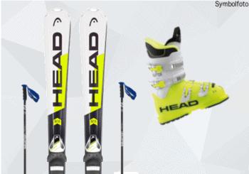 Head Ski, Skistöcke, Head Skischuhe, Jugendliche, Mogasi, Ski-Set Jugend Fortgeschritten