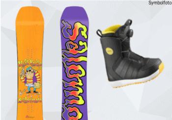 Salomon Snowboard, Vorder- und Rückseite, Snowboardschuhe, MOGASI, Snowboard-Set Jugend Anfänger