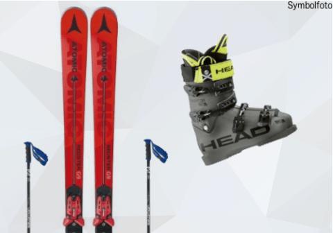 Ski Set für Erwachsene (Ski + Skistöcke + Skischuhe)