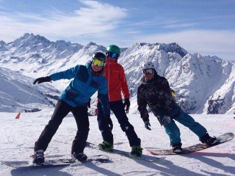 Snowboard Gruppenunterricht am Pardatschgrat