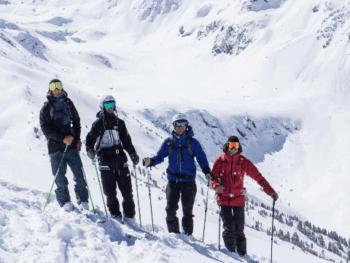 Ski Unterricht in der Gruppe Skigebiet See