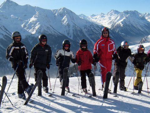 Panorama Bild Gruppenkurs im Skigebiet Kappl