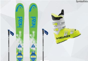 Head Ski, Salomon Skistöcke, Head Skischuhe, Jugend, Mogasi, Ski-Set Jugend Anfänger