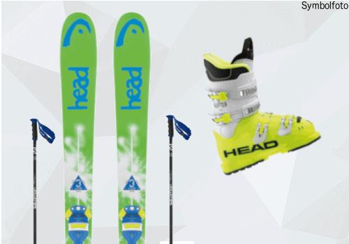 Head Ski, Salomon Skistöcke, Head Skischuhe, Jugend, Mogasi