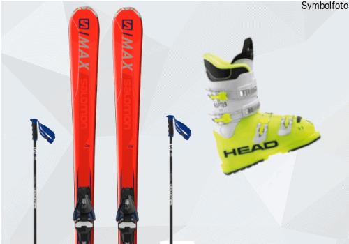 Skiset für Jugendliche (Ski + Skistöcke + Skischuhe)