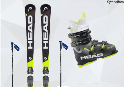 Skiset, K2 Ski, Salomon Skistöcke, Head Skischuhe, Jugend, Mogasi