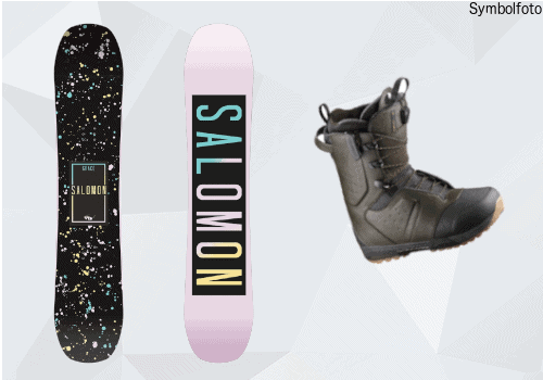 Salomon Snowboard, Snowboardschuhe, Erwachsene, Mogasi, Snowboard-Set Erwachsene Fortgeschritten