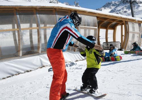 Snowboard unterricht kinder skischule ischgl