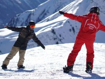 Gruppenkurs Snowboard für Erwachsene bei der Skischule Kappl