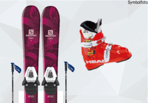 Ski Set für Kinder (Ski + Skistöcke + Skischuhe