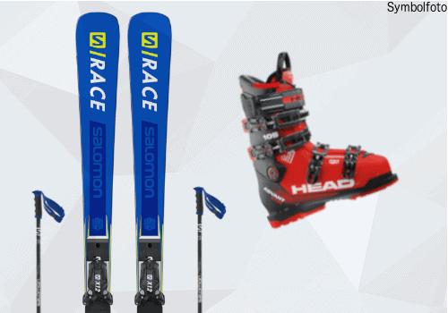 Skiset online buchen mogasi Ski, Skibindung, Skistöcke, Skischuhe