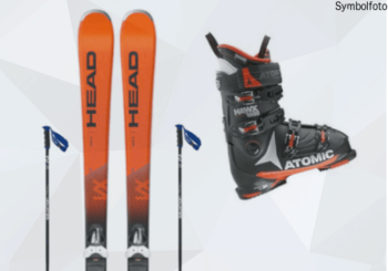 Anfänger skiset online buchen mit mogasi Skiset inkl Alpin-ski, Skibindung, Skistöcke, Skischuhe