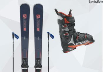 Erwachsenen Skiset ( SKi, Skischuhe, Skibindung, Skistöcke) online buchen mogasi