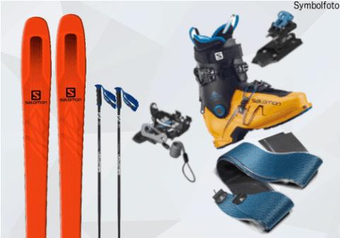 Skitouring-Set Ski, Bindung ,Skitouren felle online buchen mogasi