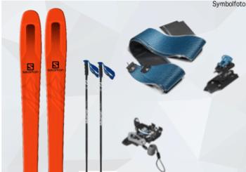 Ski touring ski set mogasi