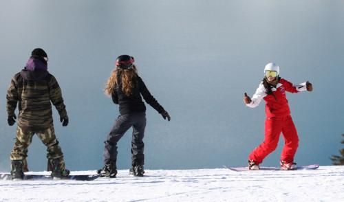 Snowboard Unterricht, Skischule Silvretta Galtür, Mogasi